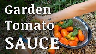 No Recipe Garden TOMATO SAUCE