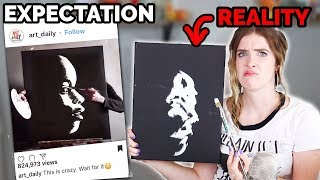 ARTIST Tests VIRAL Instagram ART Videos!