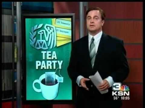 Wichita tax day tea party preview on KSN news