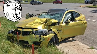 Retarded Stupid BMW Crash Compilation 2017 #5 - Brutal Bmw Accident - M3 X5 X6 E36 E90 120 525 E30
