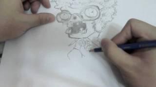 How to Draw Disco Zombie Plants vs Zombie
