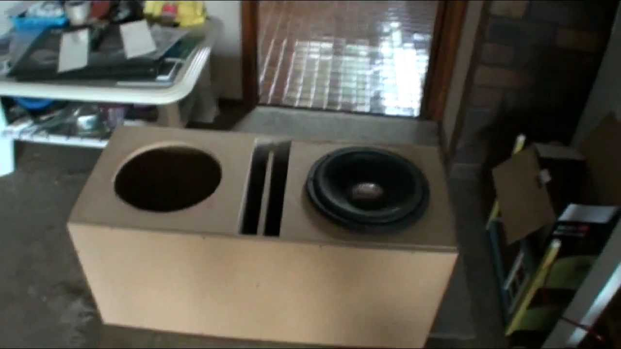 2 Dd 512 Subwoofer Box Build Pt 1 Slot Ported 42 Cubes Youtube