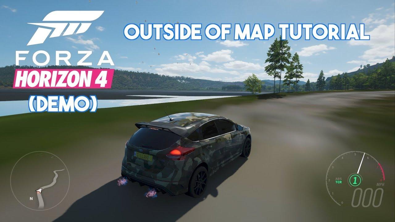 Forza Horizon 4 Demo | Outside Of Map Tutorial #forzahorizon4 #demo #glitch