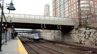 Vermonter #55 / Acela #2171 & 2 MNCR New Haven at New Rochelle RR