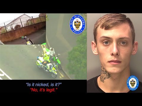 police-chase-&-sting-dirtbike's-tyres-after-80mph-getaway