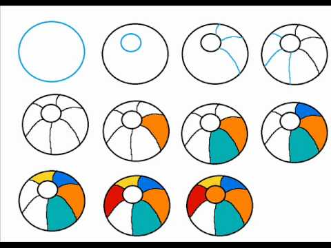 How To Draw A Beach Ball Step By Step Drawing Tutorial ...