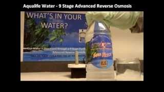 Water Testing Demonstration - Tap Water vs. Aqualife 99% Pure Water
