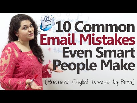 10 common Business email mistakes even smart people make - Business English lesson