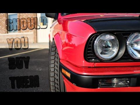 Bmw E30 Euro Smiley Depo Headlights Review HD
