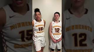 Abby Guidinger and Isy Odor Post-Game Interview (Feb. 17, 2018)