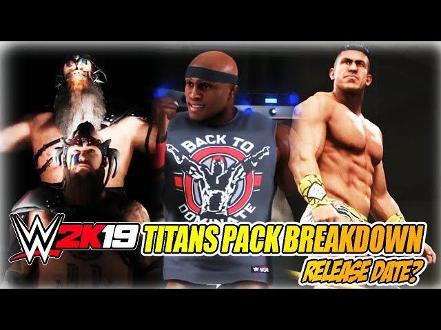 WWE 2K19 TITANS & RISING STARS DLC PACK RELEASE DATES - EC3, BOBBY LASHLEY, WAR RAIDERS ENTRANCES