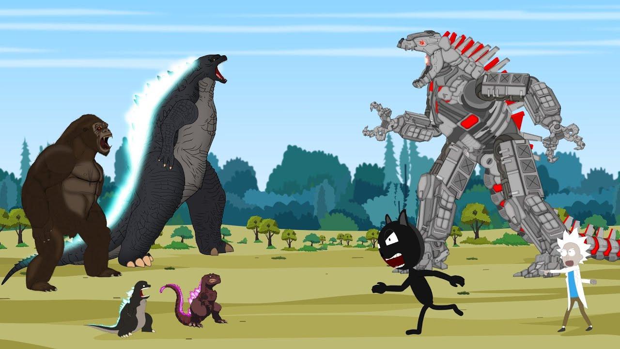 Rescue Godzilla vs Kong From Mechagodzilla [HD] | Godzilla Animation Cartoon