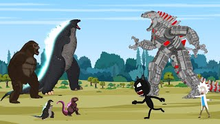 Rescue Godzilla vs Kong From Mechagodzilla [HD] | Godzilla Animation Cartoon