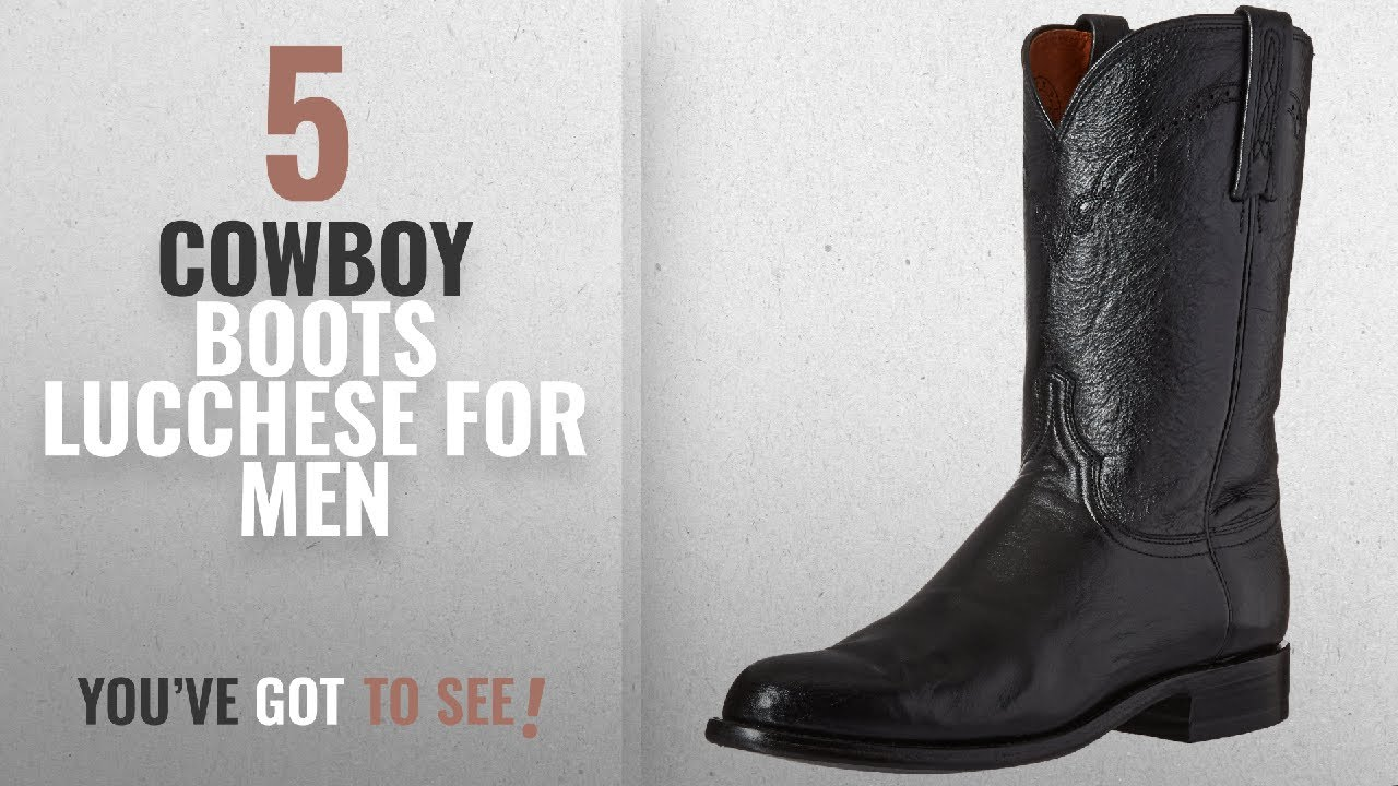 39619ea99eb Top 10 Cowboy Boots Lucchese [ Winter 2018 ]: Lucchese Bootmaker Men's  Lawrence-Blk Lonestar Calf