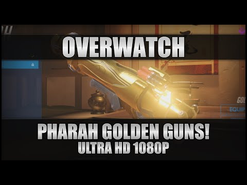 ♕ Overwatch - Pharah Golden Guns! - PC Ultra 1080p 60FPS