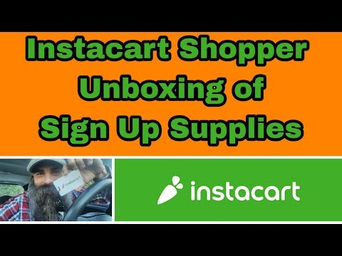 Instacart Shopper Unboxing of Sign Up Supplies - YouTube