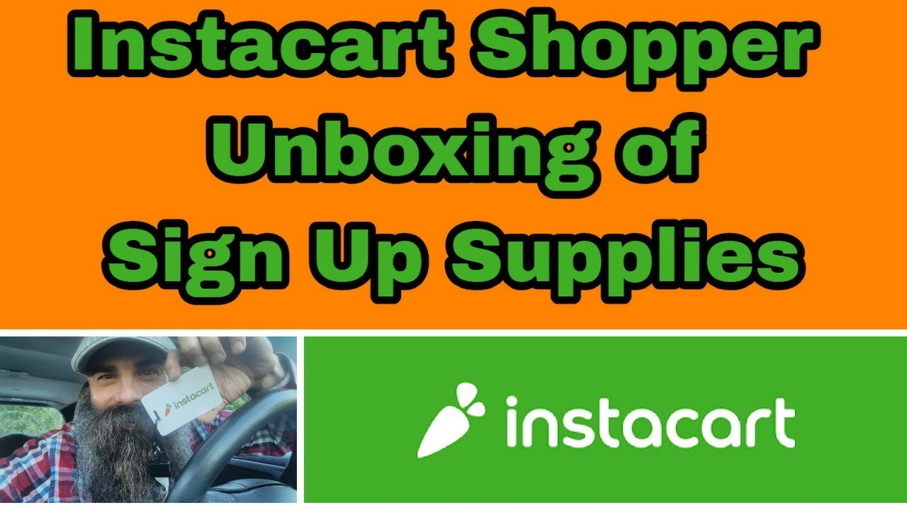 Instacart Shopper Unboxing of Sign Up Supplies - Dave Wright