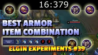 WHAT IS THE BEST ARMOR COMBINATION? - ELGIN EXPERIMENTS #39 - TANKS AND FIGHTERS NEED TO SEE THIS