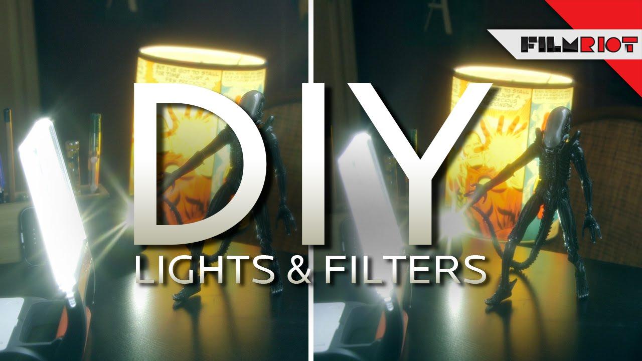 DIY Lights U0026 Lens Filters   YouTube