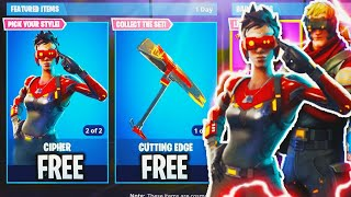 "NEUE ""Cipher SKIN + Cutting Edge Axt"" in Fortnite! - NEUE SKINS UPDATE! (Fortnite Battle Royale Live)"