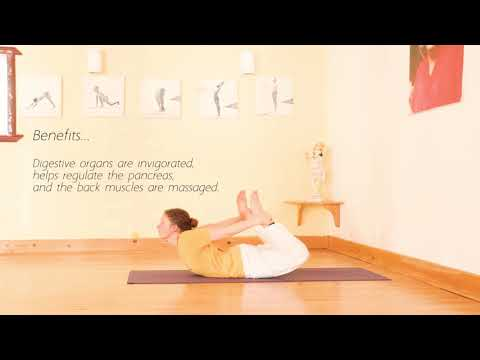 How to do the Bow — 12 Basic Asanas #8 from YouTube · Duration:  1 minutes 2 seconds