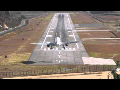 The best extreme approach  video of Paro Airport, Bhutan. Please watch HD and full screen