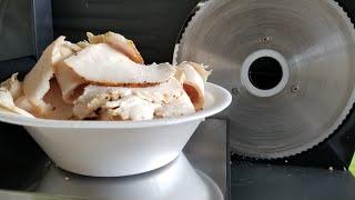 Oven Roasted Turkey Slices sandwich meat Elite Platinum Electric Food Slicer EMT-503B