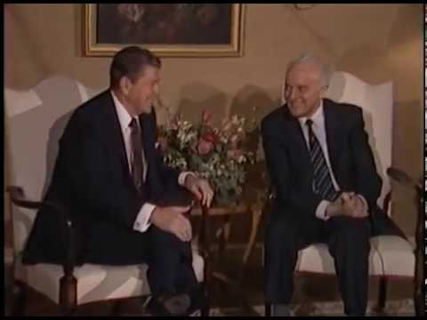 President Reagan Meeting with Soviet Union Foreign Minister Eduard Shevardnadze on October 24, 1985