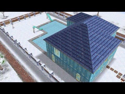 [The Sims Freeplay]- 2 Katlı Ev Nasıl Oluşturulur? Havuz Nasıl Oluşturulur? (Buzdan Ev Modeli)