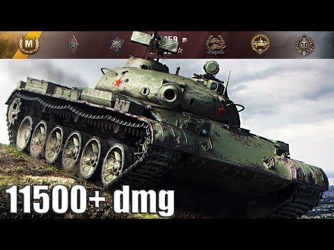 Объект 140 ДАМАГ ЗА ВСЮ КОМАНДУ 11500+ dmg 🌟🌟🌟 World of Tanks лучший бой