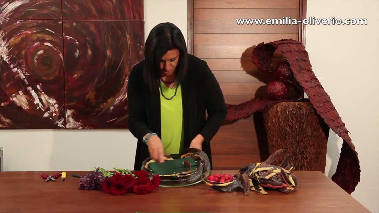 R aliser un centre de table de fruits et fleurs automnaux - Composition florale noel originale ...