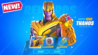 *NEW* THANOS SKIN in Fortnite! (OFFICIAL SKIN - FIRST LOOK)