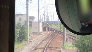 前面展望 北陸鉄道石川線 鶴来→野町 2017.08.06 Hokuriku Railway Ishikawa Line Tsurugi → Nomachi