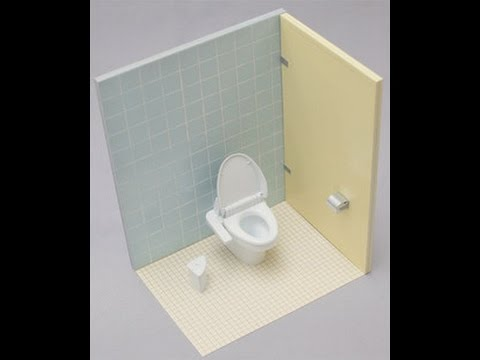 Aoshima x milestone japanese toilet model kit unboxing youtube