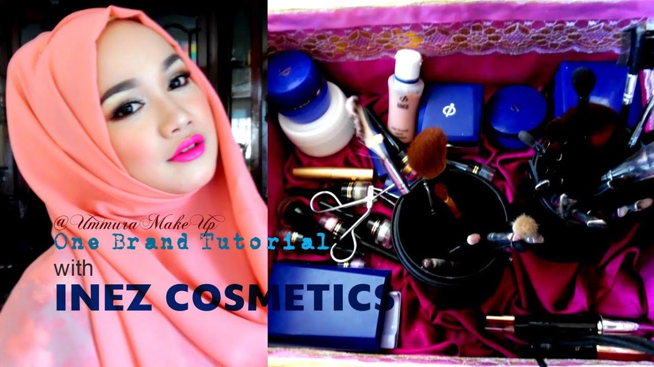 one brand make up tutorial | inez cosmetics | ummura make up - youtube