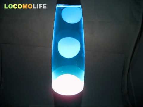 LOCOMOLIFE   34cm Lava Lamp Night Light YELLOW GREEN BLUE RED