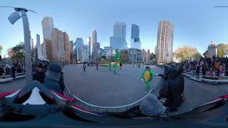 4K 360° NYC : Fขll Macy's Thanksgiving Parade 2018 from Columbus Circle