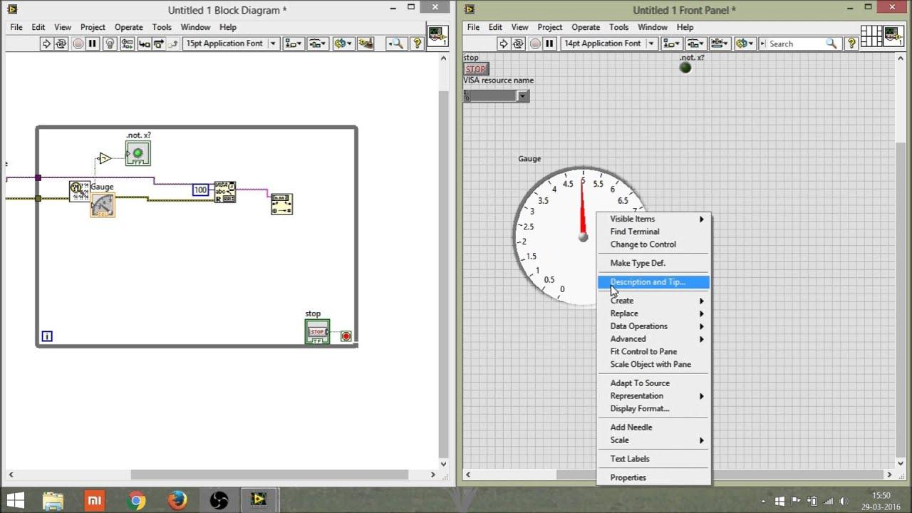 Speed sensor using arduino and LabVIEW (VISA)