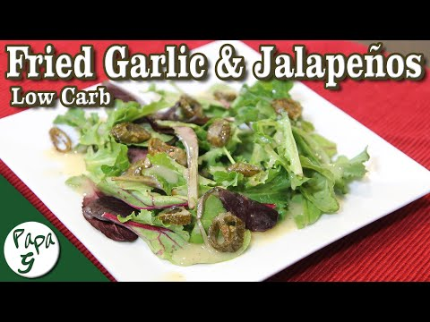 fried-garlic-and-jalapeno-salad-dressing-–-low-carb-keto-vinaigrette-recipes-|-saucy-sunday
