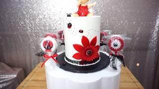 How to decorated ladybug cake tutorial