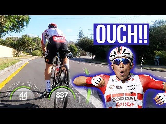 Watch Caleb Ewan Tear My Legs Off (in the local bunch ride)