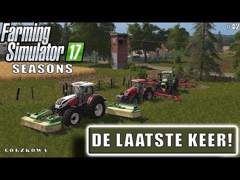 """""""DE  LAATSTE KEER!"""" FarmingSimulator 17 Seasons Gorzkowa #42"""