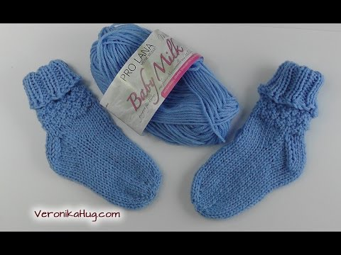 Stricken – Socken – Baby Größe – Babysöckchen – 20/21 – Teil 1 – Veronika Hug