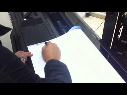 Problema com reconhecimento do rolo de papel na HP T520