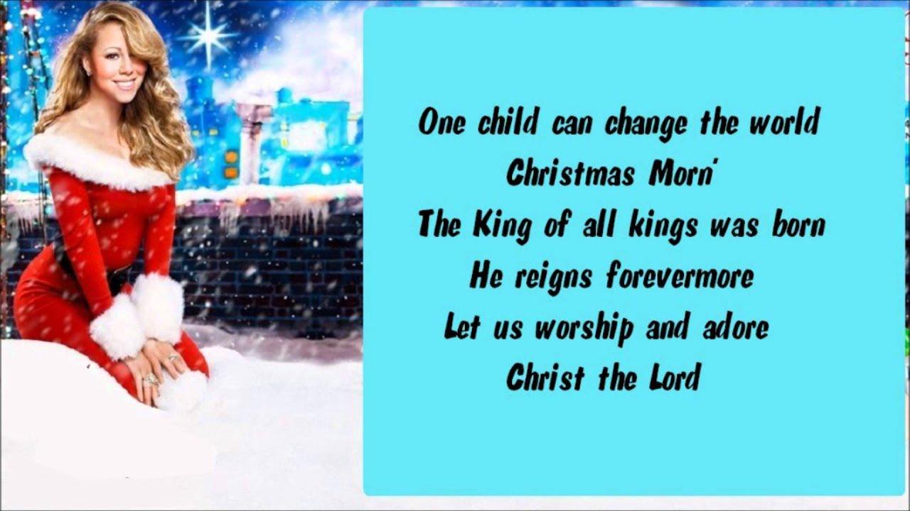 mariah-carey-one-child-lyrics-thechristmaslyrics