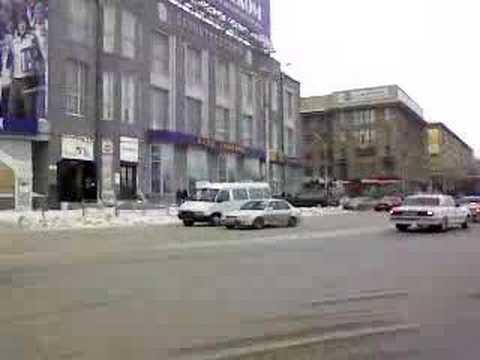 Novosibirsk. Winter. Center of city.
