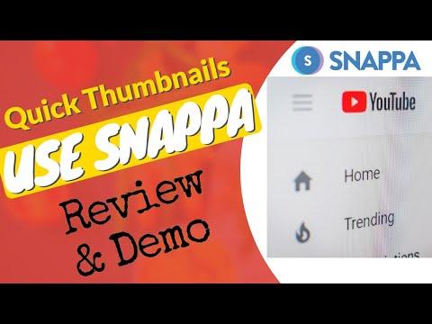 Snappa Review & Demo | YouTube thumbnail templates | YouTube Art thumbnail