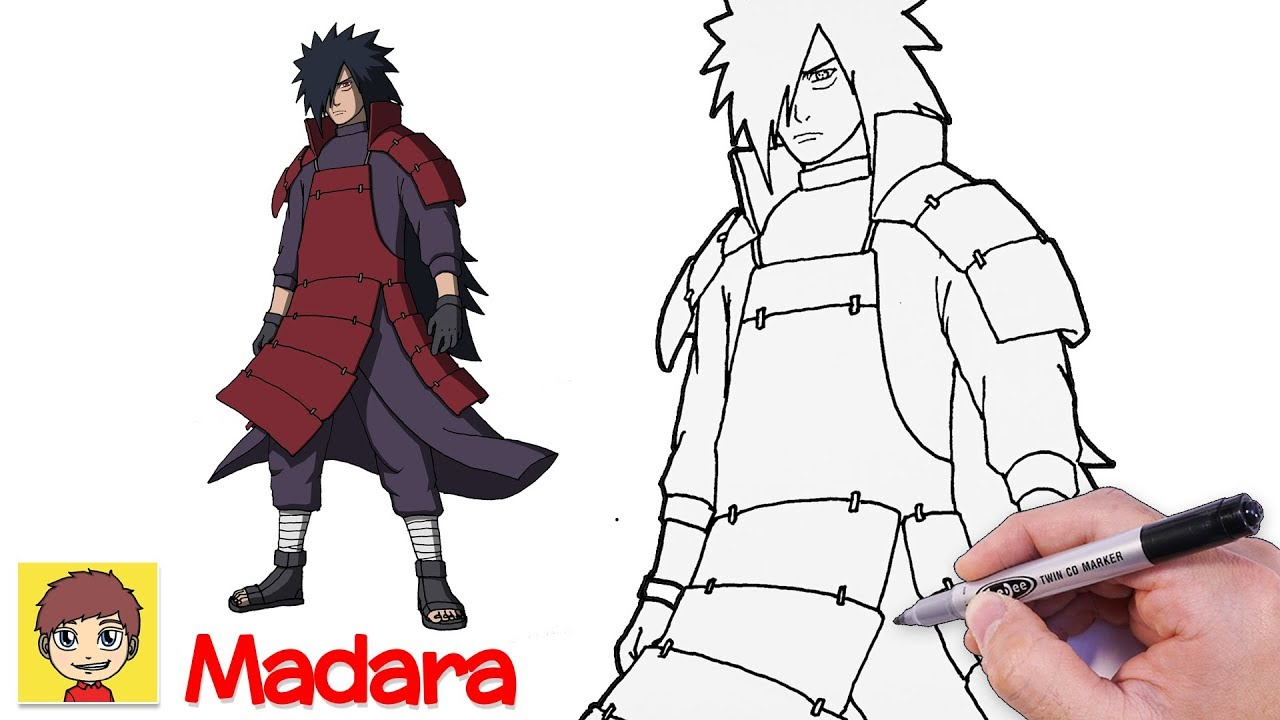 Cách vẽ Madara – Vẽ Anime – Naruto Shippuden