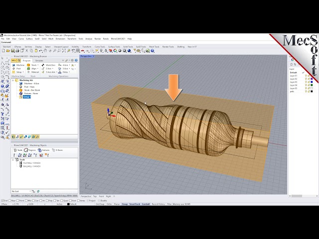 RhinoCAM 2021: Introduction to 4 Axis Machining