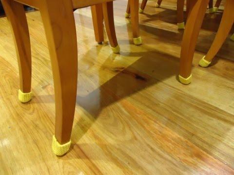 Как защитить линолеум от ножек стула